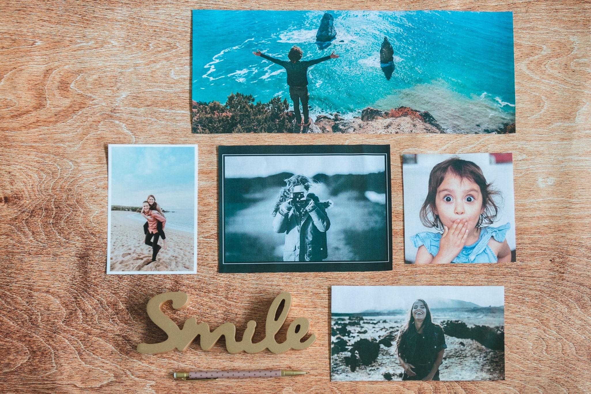 Différents formats de tirages photo