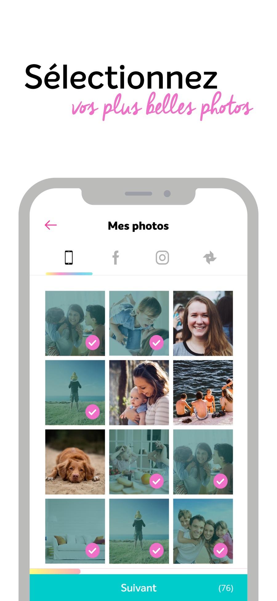 Sélectionnez vos photos