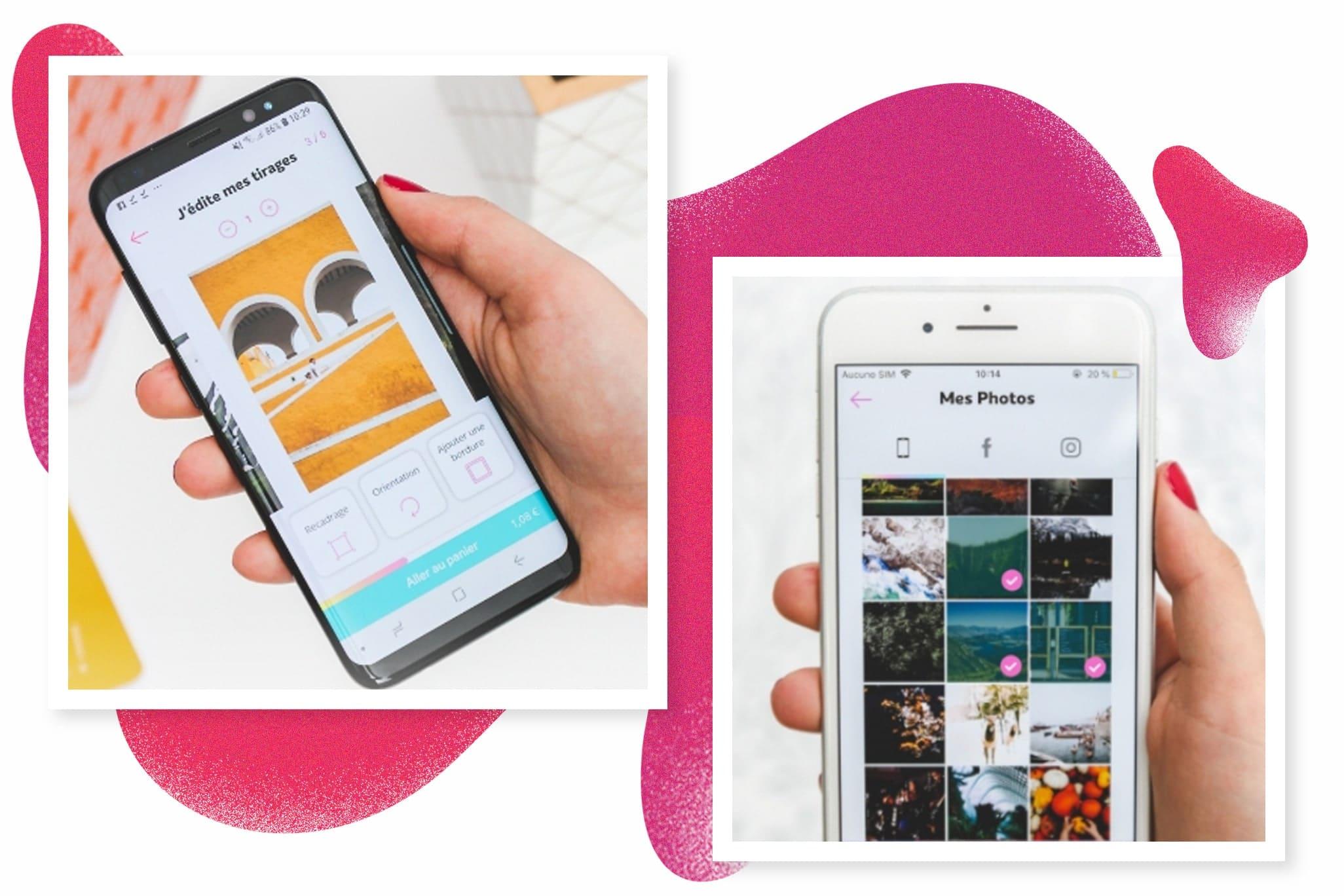 Utilisation de l'application sur Android et iOS